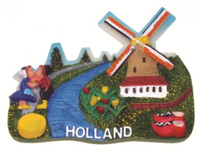 Koelkast magneet Holland tafereel
