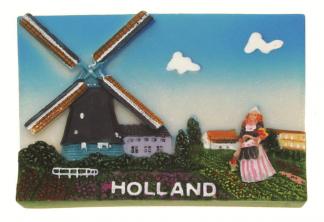Koelkast magneet molen Holland.