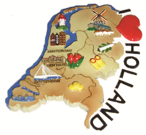 Koelkast magneet silhouet Holland.
