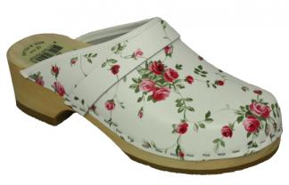 Schoenklompen openhiel met bloemetjes print