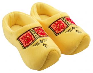 Klomp pantoffels gele bies