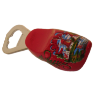 Klompopener rood met molen afbeelding