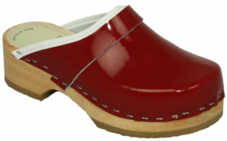 Schoenklompen rood met openhiel