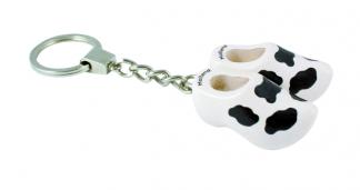 Sleutelhanger koeieprint 2 klompjes