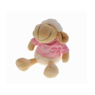Pluche schaap in roze shirt