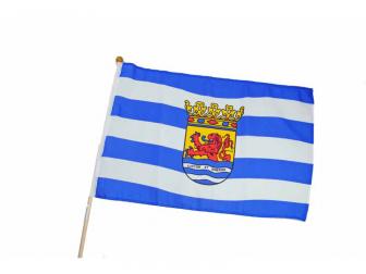 Zeeuwse vlag klein op stok.