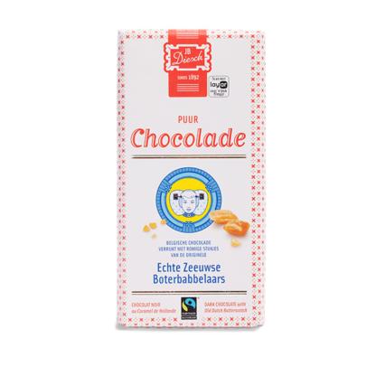 Chocolade reep puur. met stukjes chocolade
