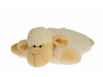 Pluche knuffel schaapkussen 35cm