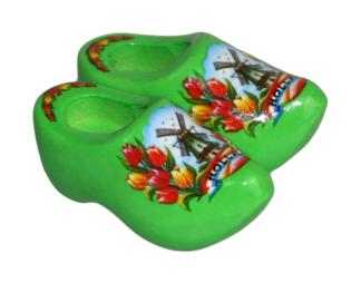Koelkast magneet klompjes mint groen