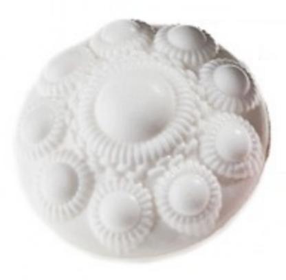 Zeeuwse knop zeepje wit