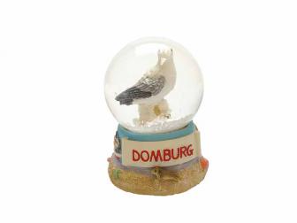 Sneeuwbol Domburg met meeuw