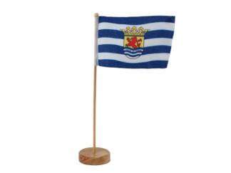 Tafelvlaggetje Zeeland met wapen..