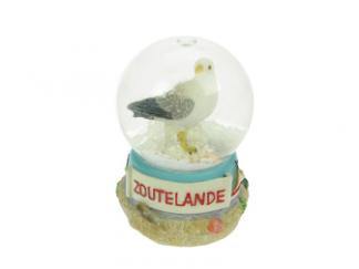 Sneeuwbol Zoutelande met meeuw