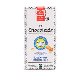 Chocolade reep wit met babbelaar.