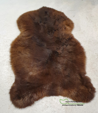 bruine schapenvacht 100 cm