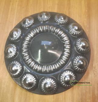 Zeeuwseknopkaars grijs met zilver