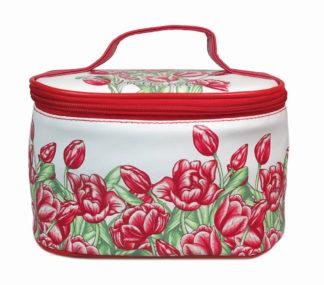 Cosmetica toilet tasjes tulpen rood