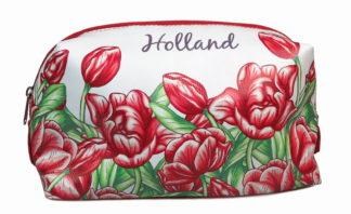 Cosmetica toilettasje tulpen rood