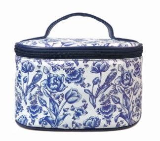 Cosmetica toilettasje tulpen blauw