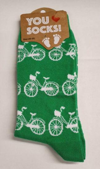 Groen met witte fietsjes