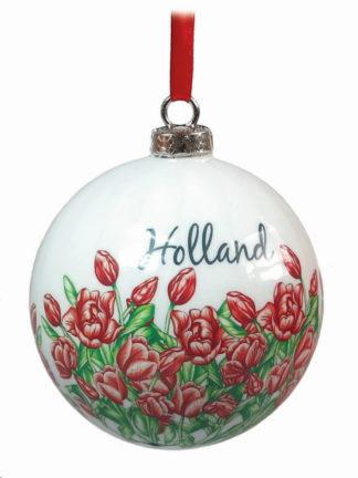 Kertsbal Holland rood tulp