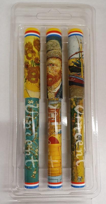 Pennen Vincent van Gogh 3 stuks