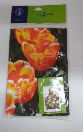 Keuke / Bbq schort oranje tulp