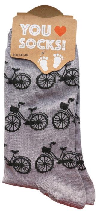 Sokken grijs zwarte fiets