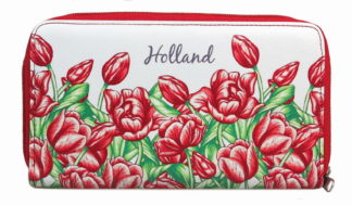 portemonnee tulpen rood