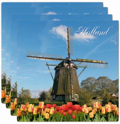 Onderzetters Holland molen steen