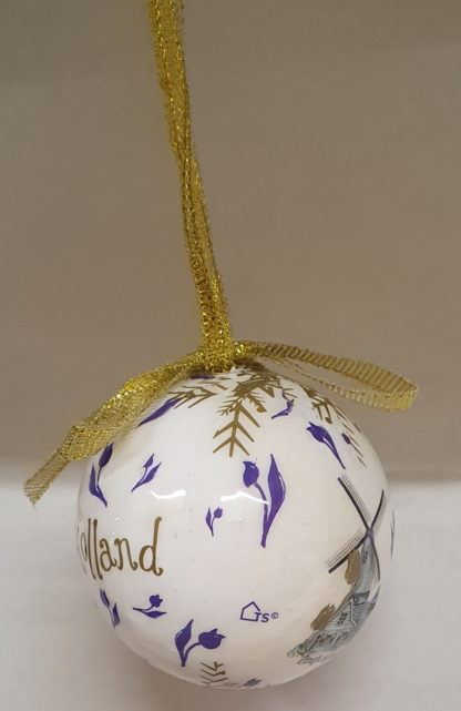 Kleine kertsbal wit Holland Molen