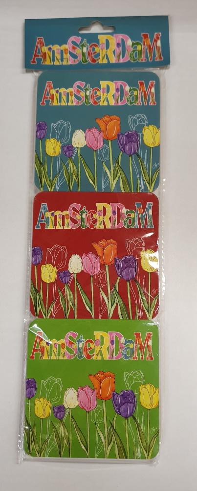 Onderzetters tulpen Amsterdam
